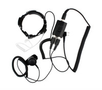 Wholesale Two Way Police Radios - New PTT Military Police Equipment Throat Mic Air Tube Headset for Kenwood TH-F7 Walkie talkie two way radio C0038A Alishow