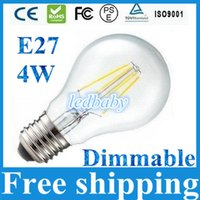 Wholesale lighting glass globe resale online - Dimmable E27 W Filament Led Bulbs Lights Super Bright Lumens Warm Cold White Led Lamps Degree With Clear Glass Cover AC110 V
