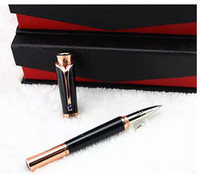 Wholesale Elegant Ballpoint Pens - 1PC High Quality Silver gold rose gold Clip with Gem Mb Rollerball Pen Luxury Elegant Gift Pens with An Original Box Office School Supplies