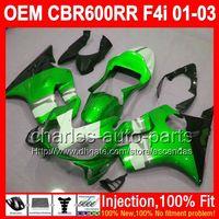Wholesale Honda Cbr F4i Lights Fairings - OEM For HONDA CBR600 F4i CBR 600 F4i 01-03 01 02 03 green white L72438 Injection FS CBR600F4i 600F4i Light green 2001 2002 2003 Fairings