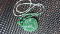 Wholesale Tanglin Jade - New handmade white crystal braided natural Tanglin Jade Guanyin pendant genuine jade Buddha men and women with the paragraph