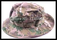 Wholesale Marines Military Hats - Wholesale-Military Cotton Boonie Hat CP Camo Hunting Marine Bucket
