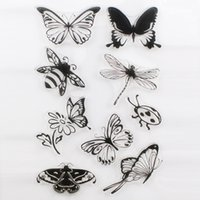 Wholesale scrapbooking card making supplies - Wholesale-DECORA 1PCS Flower Butterfly Cute Girl Design Transparent Stamp DIY Scrapbooking Card Making Christmas Decoration Supplies