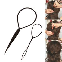 Wholesale Topsy Tool Hair Styles - Wholesale-2PCS Lot Styling Tools Hair Styling Topsy Tail Hair Braiding Machine Clips For Hair Curler For Hair Acessorios para cabelo