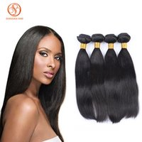 Wholesale Velvet Extensions - Peruvian Human Hair Wefts Grade 8A Straight Velvet Hair Extensions 3Pcs  Lot Natural Black Color No Smell Last Long Fast Shipping