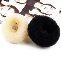 Wholesale Random Hair Styles - 1pcs women Hair Styling Donut Magic Sponge Bun Ring Maker Former Twist Tool Random Color
