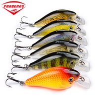 "Wholesale Japan Tackle Wholesale - 6pc PRO BEROS Brand Fishing lure Exported to Japan 3""-7.6cm Fishing Bait 12.75g Crankbait 6 color fishing tackle 8# Hook"