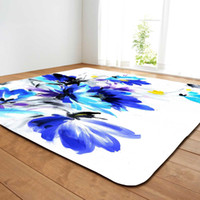 Wholesale Living Room Carpet With Colored Drawing Flower Printing Dinning Room Carpet With Flower Drawing Printing Footcloth