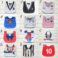 Wholesale Wholesale Children Aprons - New Infant Saliva Baby Waterrtowels Bibs 3-laye Baby Wear Accessories Kids Cotton Apron Handkerchief Children Bib Pinafore 12styles for pick