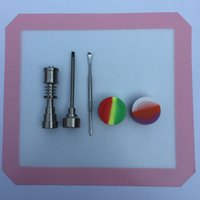 Wholesale dab accessories kit for sale - Group buy newest nail for dabs glass bong electronic cigarette accessory silicone dab mat silicone jars wax tool glass bong nail kits