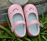 Wholesale Rose Cutout - little girls leather shoes with flowers cutouts white pink rose kids flat shoes chaussure enfant zapatos bebe spring summer style charming