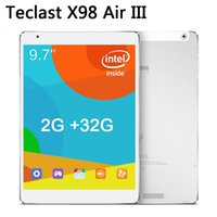 Precio de Venta al por mayor ips tableta-Al por mayor-Teclast X98 Aire III Android 5.0 Tablet PC de 9,7 pulgadas de pantalla 2048x1536 IPS Intel Core 2 GB Z3735F Quad / 32GB 4.0 de Buletooth