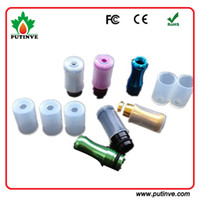 Wholesale Disposable Testing Drip Tips Cover - Disposable Mouth Piece Atomizer Cover for Smoke E Cig CE4 CE5 Drip Tips CoverRound Silicone Test Caps for all clearomizer atomizer