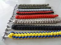 Wholesale Survival Bracelet U Clasp - New Survival Bracelets Paracord Parachute Hiking Bracelet Stainless Steel U Clasp Unisex Escape Bracelet wristband Outdoor Gear 1736