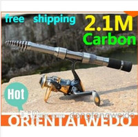 Carbon spin fishing rods - fishing rod carbon lure rod spinning telescopic fishing rods fishing pole Power fishing tackle tool hight quality