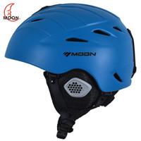 Wholesale moon helmets - MOON Professional Ski Helmet 3 Colors CE Certification Ultralight Skiing Helmet Skating Snowboard Skateboard Helmet Size M L
