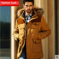 Wholesale Clearance Long Down Coat - Fall-Free shipping 2016 Down jacket for men in the long winter coat of cultivate one's morality thicken the season clearance   M-3XL