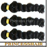 Wholesale Weaved Hair Wholesaler - Malaysian virgin hair weaves bundles deep loose wave Good Healthy natural black 3pcs lot 12inch~28inch free shipping