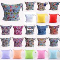 Wholesale Wholesale Cloth Diaper Fabric - Baby Protable Nappy Reusable Washable Wet Dry Cloth Zipper Waterproof Diaper Bag