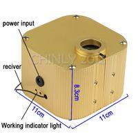 Wholesale Optical Chip - Wholesale-LED Fiber Optic Star Ceiling Lights Kit 300pcs 0.75mm 2M optical fiber+Cree chip 16W RGBW 28key RF remote twinkle Light Engine