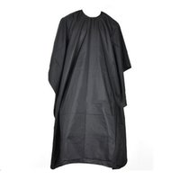 Hair Cutting Hairdressing Cloth Barbers Cabeleireiro Large Salon Adulto impermeável Cape Gown Wrap Black Hairdresser Cape Gown Wrap