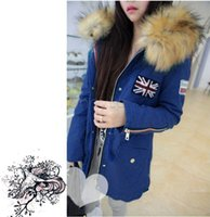 Wholesale winter coats discounts - Wholesale-Big Discount !2015 Winter Coat Women Clothing Faux Fur Collar Thick Warm Hooded Coat Outerwear M-XL 30