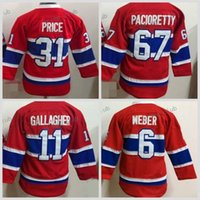 9416951ef Youth Montreal Canadiens 6 Shea Weber 11 Brendan Gallagher 31 Carey Price 67  Max Pacioretty Jerseys Kids New Home Red Hockey Jersey Cheap ...