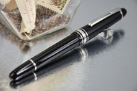 Fountain Pens black pearls plastic clip - PURE PEARL MB High Quality Pure Black Clip of Silver Fountain Pen Screwed Cap