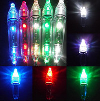 Wholesale Led Deep Drop Underwater - Mini LED Deep Drop Underwater Fishing Squid Fish Lure Light Squid Strobe Bait Lure Flashing Lamp OOA3578