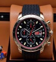 Wholesale luxury watches miglia for sale - Top Brand Swiss Miglia Chronograph Mens Quartz Sport Watch Rose Gold Grans Turismos GTS XLS Rubber Mans Luxury Stainless Wristwatch Men