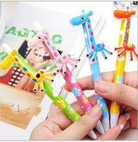 Wholesale Giraffe Pens Wholesale - 18%OFF Fancy pen body. Cute giraffe ball-point pen. Children's school supplies. Cartoon Student Study Pens. Blue ballpoint pen 15pcs SQ