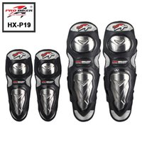 2016 Authentic Stainless Steel Motorbike KneeElbow Pads Motor Protective Gear Motorcycle Knee Guard Pro-biker HX-P19