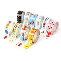 Wholesale Tape Cartoon Designs - Beautiful Design 10 Rolls Mixed Cartoon Tape Scrapbooking Paper Masking Adhesive Sticker Decor Lowest Price order<$18no track