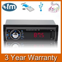 NEW Car Audio Stereo FM Radio-Empfänger Auto-MP3-Player USB mit Front-Audio-Interface, AUX-Eingang / USB-Port / SD Card Slot / LED LCD-Auftrag $ 18NO