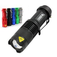 Wholesale 7w Cree Led Flashlights Rechargeable - CREE 1600 Lumen 7W Waterproof LED Zoom flashFlashlight 3 Modes Zoomable LED Torch Penlight Biking Camping Lighting Free Shipping