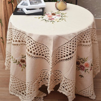 Wholesale Hand Crochet Tablecloths - Special discount parcel post foreign trade honeycomb cloth hand-crocheted tablecloth tablecloth European cloth tea towel cover square size