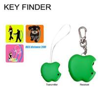 persönlicher finder großhandel-Schlüsselanhänger Finder Green Apple Keyfinder Whistle 1 Sender und 1 Empfänger 120db Anti-verlorene Alarm Finden Sie verlorene Dinge Personal Electronic Key