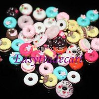 Wholesale Pack Sweets - New Arrival 50pcs pack 13 Types 3D Nail Art Decorations For Manicure Cute Resin Sweet Circle Decorations For Nails