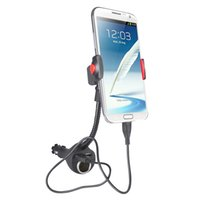 Wholesale Smartphones S3 - Car Phone Holder Dual USB Charger Cigarette Lighter for iPhone5 5S Galaxy S3 Note 2 Universal Smartphones