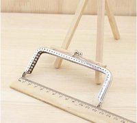 Wholesale Metal Clutches Wholesale - Wholesale-6pcs lot 6.5 8.5 10 12 15 18cm DIY Purse Bag Coin Purse Frame Silve Metal Clasp bag clutch Accessories sewing bag handle