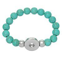 noosa perlen schnappen großhandel-Bule Türkis Noosa Chunks Armbänder austauschbar Snap Bettelarmband diy Perlen Armbänder N23 12pcs / lot