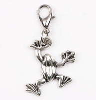 Wholesale Frog Floats - DIY Jewelry Findings 20pcs lot Silver Animal Frog Floating Dangle Pendant Charms Fit for Glass Magnetic Locket Chain