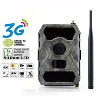 Wholesale Ir Game Cameras - 1080P HD Digital Game Hunting Trail Camera 12MP 940NM 3G Network SMS MMS With 56pcs IR LEDs