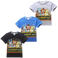Wholesale Larger Children Clothes - New Fashion Five Nights at Freddy's FNaF Boys T-shirt 5-12Y Larger Boy Kids T Shirts Children Summer Printed Clothing
