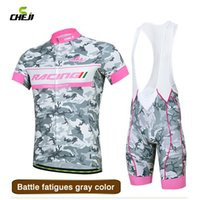 Wholesale Performance Bib - Wholesale-New 2015 Cheji Brand Cycling Jersey and Bib Shorts Set High Performance Farbic Quick Dry Mountain Bike Bicycle Sports Clothing