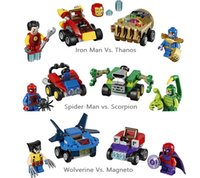 LOLTOY BELA 10670.10671.10672 3 Set di giocattoli Building Block di Super Heroes Character Showdown di Lot