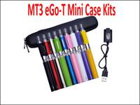 ego t mt3 evod kits großhandel-MT3 Mini-Gehäuse-Kits MT3 EVOD Zerstäuber eGo-T Batterie 650mAh 900mAh 1100mAh E Zigarette elektronische Zigarette E Cig Kits Verschiedene Farben MT3 Kits