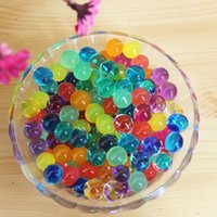 Wholesale Water Pearls Jelly Balls - 10 bags lot Magic water crystal soil hydrogel beads Pearl Shaped Grow Jelly Gel Balls Home Decor Soil crystal mud beads colorful
