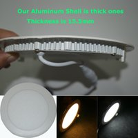 Wholesale led low price - 20x high brightness round panel lights low prices CREE Led Recessed Downlights Lamp3w 6w 9w 12w 15w 18w AC100-240V CE RoHS FCC UL