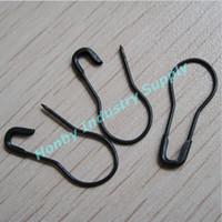 etiquetas únicas al por mayor-2000 piezas Unique Pear Shape Black Hang Tag Pin de seguridad perno de seguridad forma de bulbo de seguridad buena forma